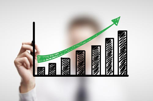 Säulendiagramm Wachstum