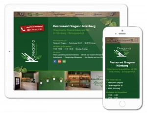 Neue Restaurant-Website für griechisches Restaurant Oregano